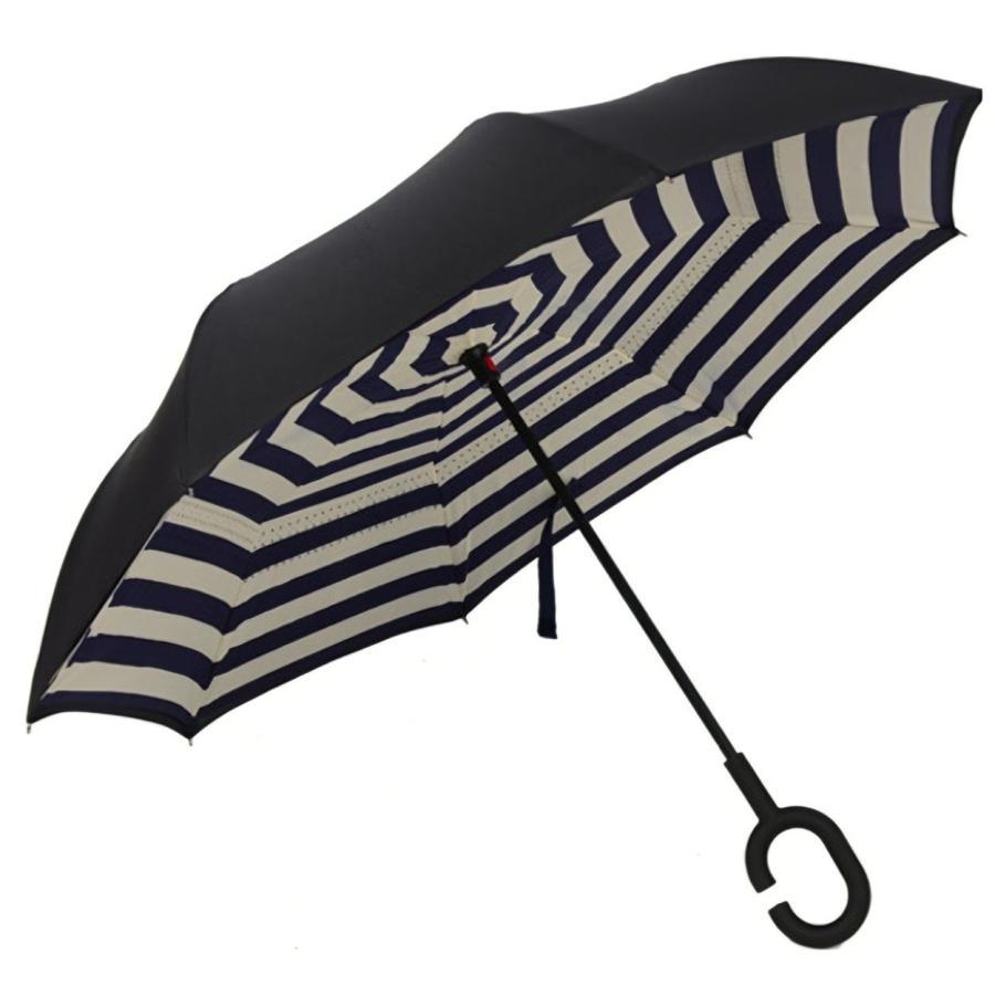逆さ傘 傘 晴雨兼用 日傘 逆さになる傘 さかさま傘 レディース メンズ 日焼け対策 UVカット 逆折り 逆向き 長傘 濡れない zk095|fkstyle|31