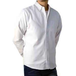 シャツ メンズ 長袖 ボタンダウン オックスフォード カジュアル ビジネス 白シャツ 黒シャツ 無地 トップス【B3G】【パケ2】 セレクトカジュアル FLAG ON CREW