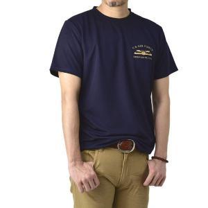 Tシャツ メンズ 半袖 トップス 吸汗速乾 ドライ機能 ワンポイント プリント クルーネック ドライ性能検査済み【D0A】【パケ2】|セレクトカジュアル FLAG ON CREW