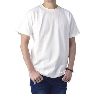 無地Tシャツ メンズ 半袖 厚手 ヘビーウェイト 7.4オンス クルーネックトップス 透けない 白Tシャツ 真黒 綿T D1P【パケ2】|セレクトカジュアル FLAG ON CREW