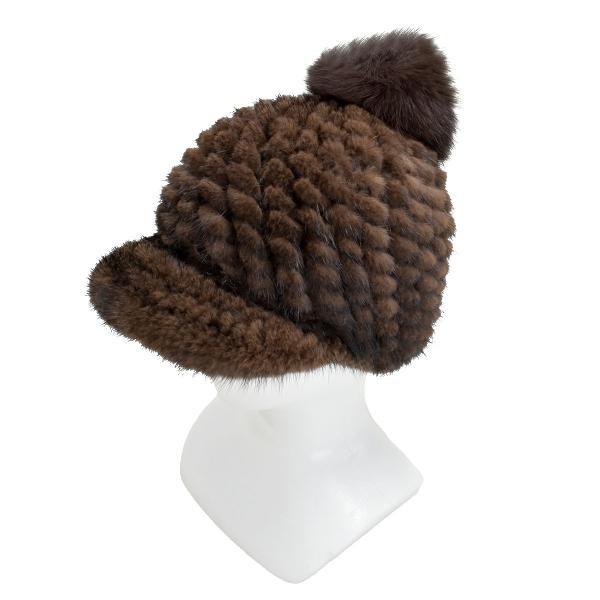 ミンク ファー 帽子 キャップ キャスケット ファー帽子 レディース 女性用 毛皮 秋 冬 リアルファー 本物 b-1909|fleche|10