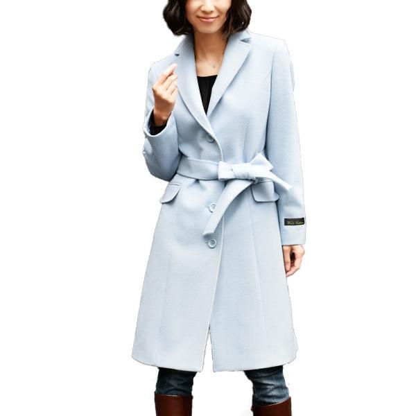 カシミヤウール テーラー襟 コート (c-1603) レディース 女性用 コート カシミヤ カシミア カシ混 ウール 秋 冬|fleche|26