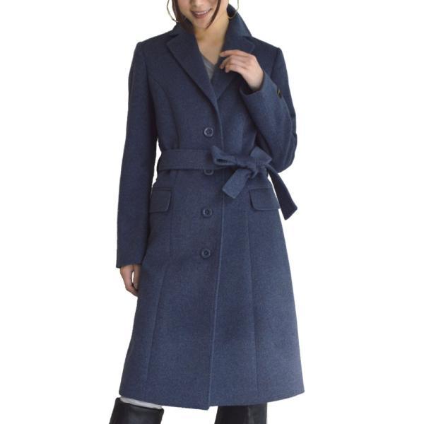 カシミヤウール テーラー襟 コート (c-1603) レディース 女性用 コート カシミヤ カシミア カシ混 ウール 秋 冬|fleche|28