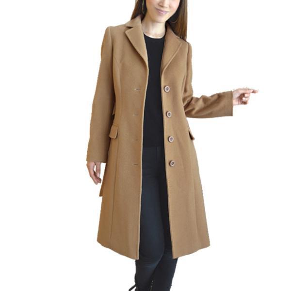 カシミヤウール テーラー襟 コート (c-1603) レディース 女性用 コート カシミヤ カシミア カシ混 ウール 秋 冬|fleche|23