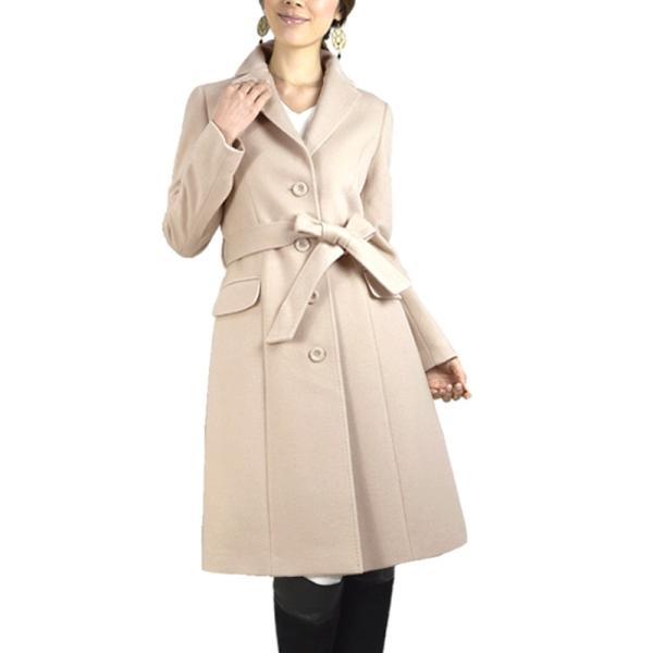 カシミヤウール テーラー襟 コート (c-1603) レディース 女性用 コート カシミヤ カシミア カシ混 ウール 秋 冬|fleche|22