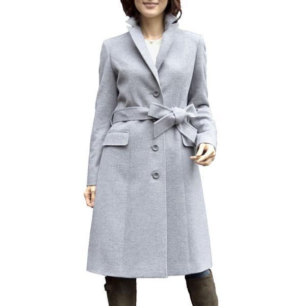 カシミヤウール テーラー襟 コート (c-1603) レディース 女性用 コート カシミヤ カシミア カシ混 ウール 秋 冬|fleche|27