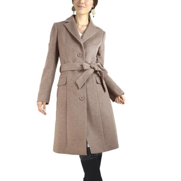 カシミヤウール テーラー襟 コート (c-1603) レディース 女性用 コート カシミヤ カシミア カシ混 ウール 秋 冬|fleche|24