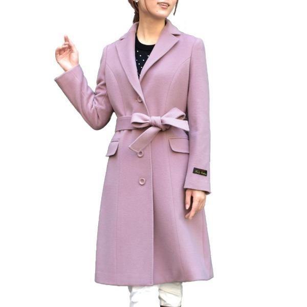 カシミヤウール テーラー襟 コート (c-1603) レディース 女性用 コート カシミヤ カシミア カシ混 ウール 秋 冬|fleche|25