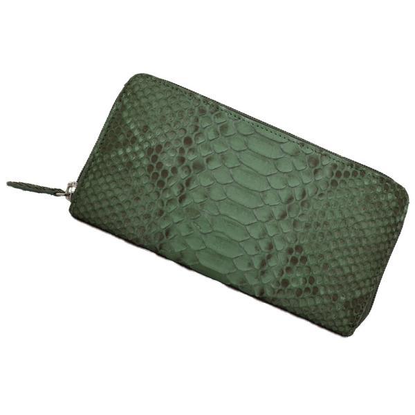 30%OFF パイソン 財布 レディース ラウンド ダイヤモンドパイソン ファスナー型 長財布 (g-1239) 本革 サイフ メンズ 蛇 ヘビ革 小銭入れあり|fleche|24