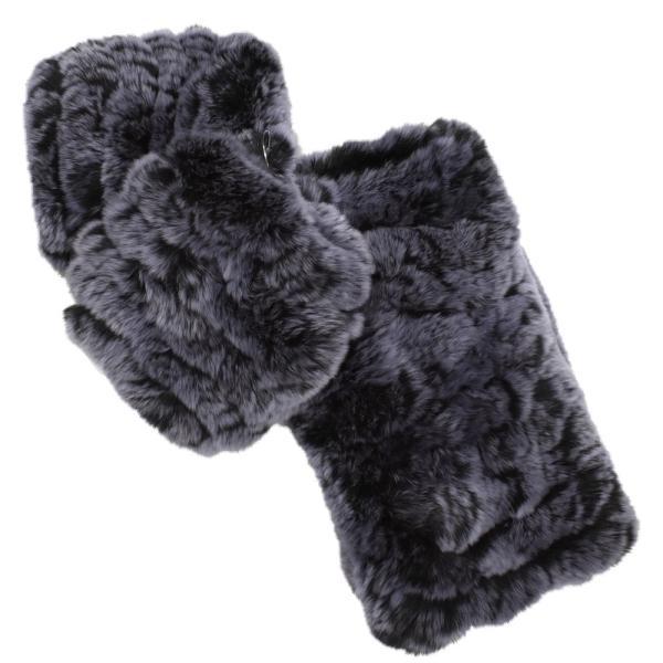 メール便 送料無料 レッキス ファースヌード  手袋 指なし セット h-1813  伸縮 ファーマフラー ファー手袋 レディース 女性用 毛皮 グローブ 軽い|fleche|15