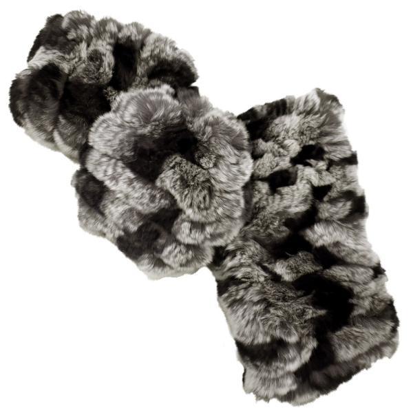 メール便 送料無料 レッキス ファースヌード  手袋 指なし セット h-1813  伸縮 ファーマフラー ファー手袋 レディース 女性用 毛皮 グローブ 軽い|fleche|19