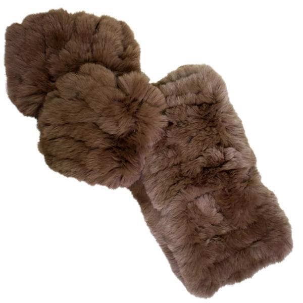 メール便 送料無料 レッキス ファースヌード  手袋 指なし セット h-1813  伸縮 ファーマフラー ファー手袋 レディース 女性用 毛皮 グローブ 軽い|fleche|14