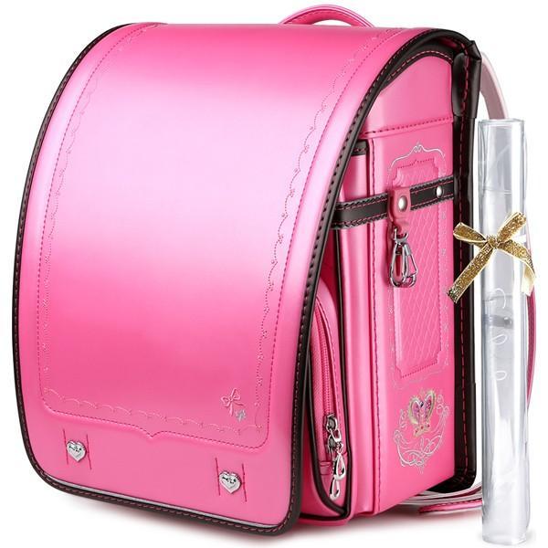 ランドセル 女 ピンク 茶色 6年保証 返品保証 クーロン 0014 / 女の子 おしゃれ かわいい 入学祝い 内祝い ピンク ブルー 可愛い 人気 水色 フロロ floro 25