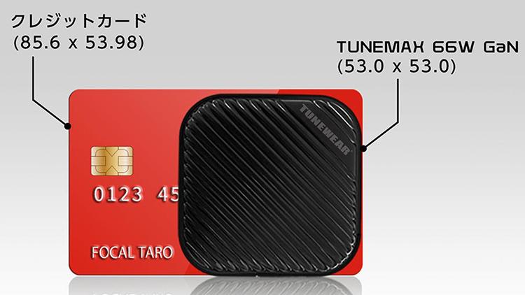 クレジットカードに隠れるサイズです