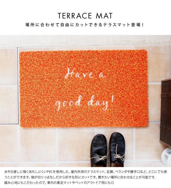 玄関マット 屋外 屋内 テラスマット 45x75cm TERRACE MAT