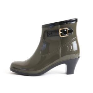 レインブーツ レディース レインシューズ かわいい きれいめ ヒール ベルト 美脚 通勤 ショート 防水 長靴 雨靴 雪対策 23.5cm〜25.0cm ゆうパケット非対応|footone|09