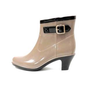 レインブーツ レディース レインシューズ かわいい きれいめ ヒール ベルト 美脚 通勤 ショート 防水 長靴 雨靴 雪対策 23.5cm〜25.0cm ゆうパケット非対応|footone|10