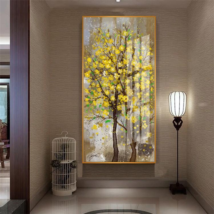 油絵 絵画 寝室 玄関 飾り 壁掛け インテリア美術品 風景絵 木の絵 印象派額装|forestjapan|07