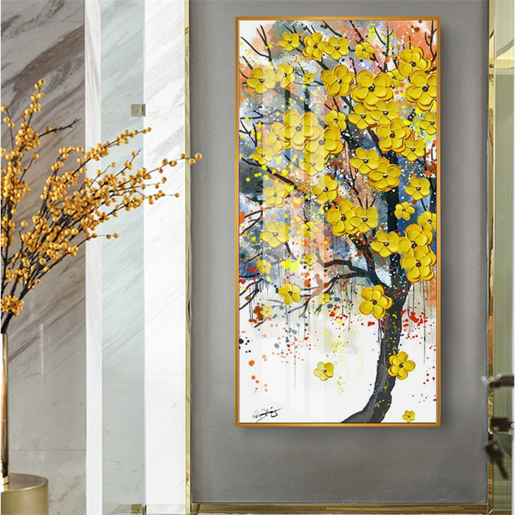 油絵 絵画 寝室 玄関 飾り 壁掛け インテリア美術品 風景絵 木の絵 印象派額装|forestjapan|06