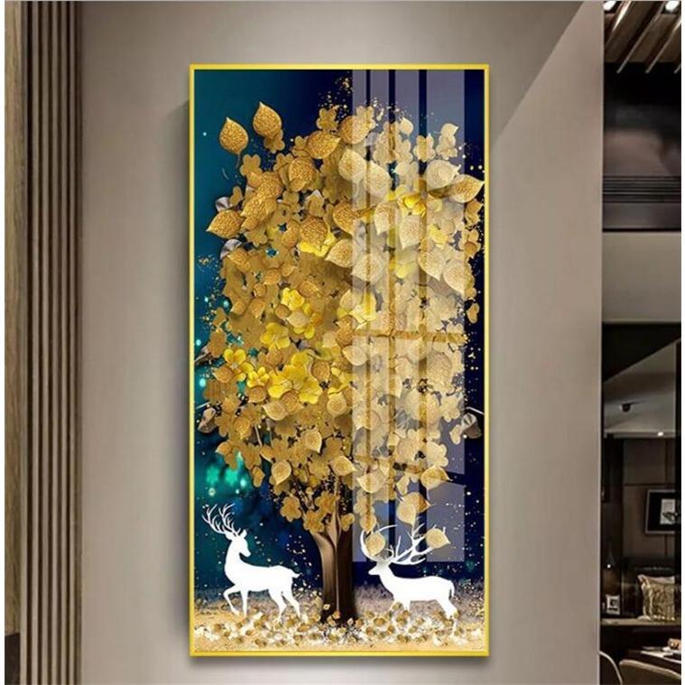 絵画 油絵 壁掛け 木の絵画 アートパネル 額つき インテリア 美術品 寝室 玄関飾り  撥水 縁起物 北欧風 forestjapan 08
