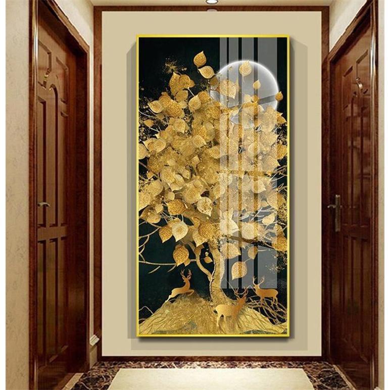 絵画 油絵 壁掛け 木の絵画 アートパネル 額つき インテリア 美術品 寝室 玄関飾り  撥水 縁起物 北欧風 forestjapan 09