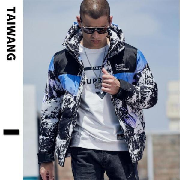 ダウンジャケット メンズ 中綿コート マウンテンパーカー アウトドア ブルゾン 厚手フード付き アウター 防寒|forestjapan|09