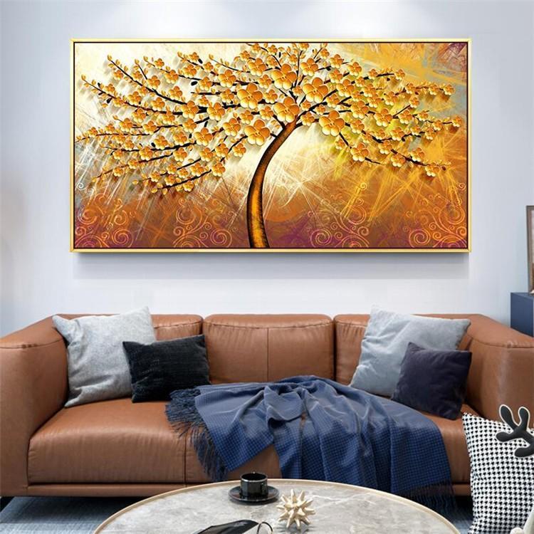 絵画 油絵 壁掛け アートパネル 額つき インテリア 美術品 寝室 玄関飾り  撥水 縁起物 北欧風 forestjapan 11