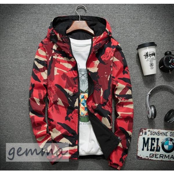 リバーシブル メンズ 迷彩柄 ジャンパー マウンテンパーカー メンズジャケット 薄手 ウインドブレーカー ジップパーカーブルゾン カジュアル オシャレ 防風 fortuna-gemma 14