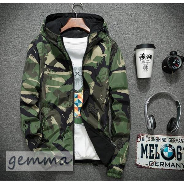 リバーシブル メンズ 迷彩柄 ジャンパー マウンテンパーカー メンズジャケット 薄手 ウインドブレーカー ジップパーカーブルゾン カジュアル オシャレ 防風 fortuna-gemma 13