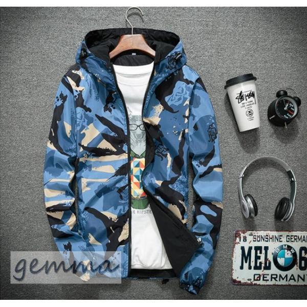 リバーシブル メンズ 迷彩柄 ジャンパー マウンテンパーカー メンズジャケット 薄手 ウインドブレーカー ジップパーカーブルゾン カジュアル オシャレ 防風 fortuna-gemma 15