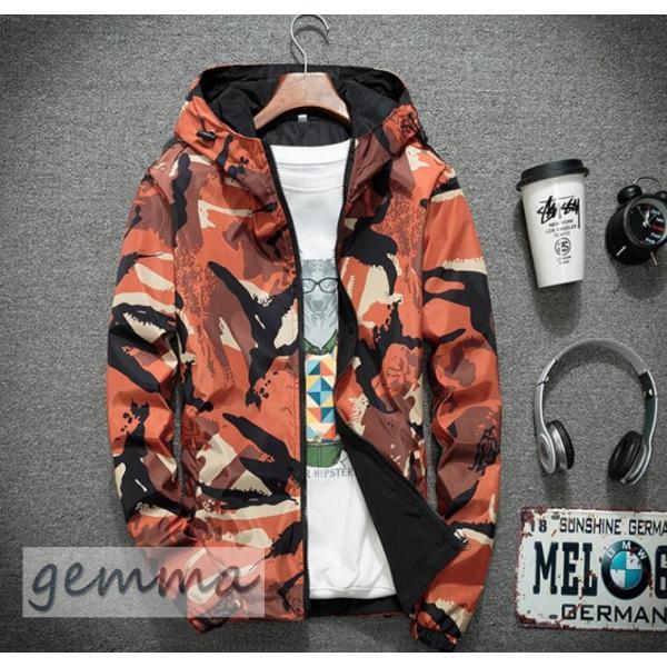 リバーシブル メンズ 迷彩柄 ジャンパー マウンテンパーカー メンズジャケット 薄手 ウインドブレーカー ジップパーカーブルゾン カジュアル オシャレ 防風 fortuna-gemma 16
