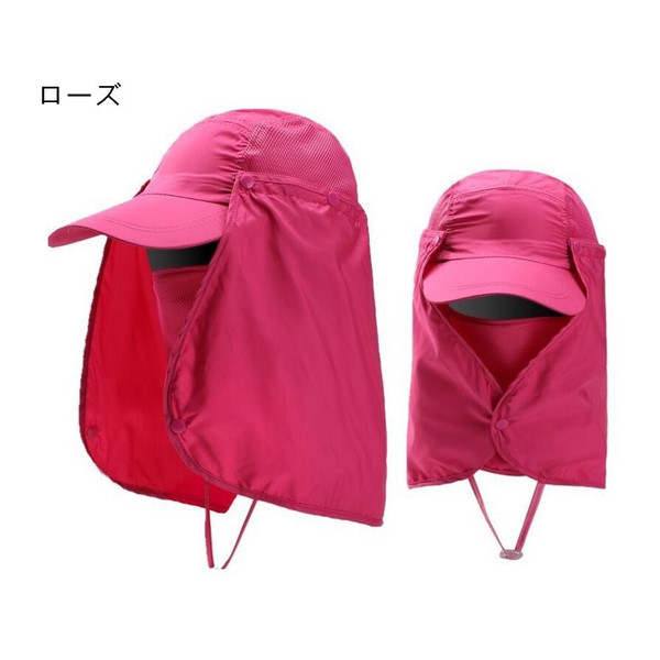 UVカット帽子 紫外線対策用 ハット 2way日よけ帽子 メンズ レディース 釣り・アウトドア・農作業 メッシュ&首元まで完全防備 fortuna-gemma 11