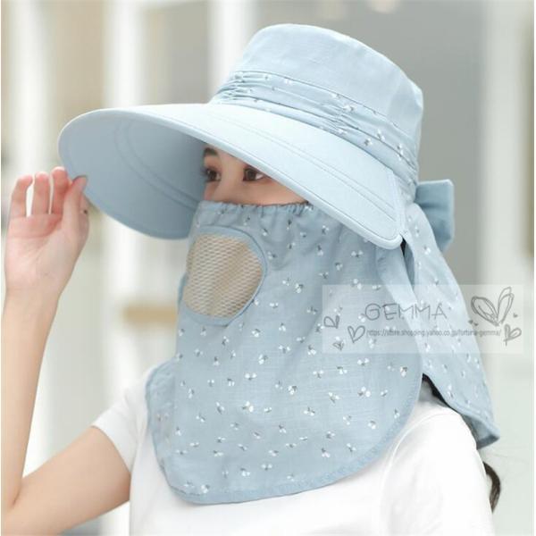 つば広帽子 レディース UVカットハット 紫外線対策 サンバイザー 取外し可 折畳み可 日焼け止め バックリボン アウトドア 春夏秋 オシャレ 新作|fortuna-gemma|12