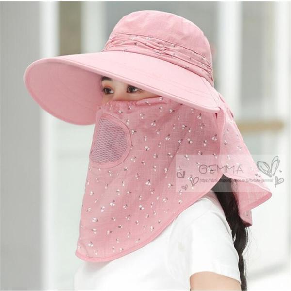 つば広帽子 レディース UVカットハット 紫外線対策 サンバイザー 取外し可 折畳み可 日焼け止め バックリボン アウトドア 春夏秋 オシャレ 新作|fortuna-gemma|11
