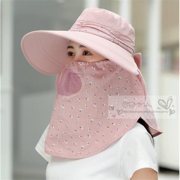 つば広帽子 レディース UVカットハット 紫外線対策 サンバイザー 取外し可 折畳み可 日焼け止め バックリボン アウトドア 春夏秋 オシャレ 新作|fortuna-gemma|10