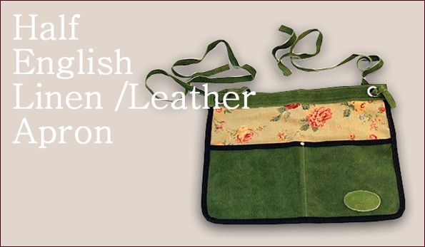 Half English Linen/Leather Apron