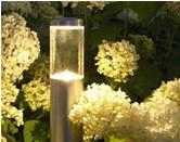 夜のお庭の「ライティング」イメージ