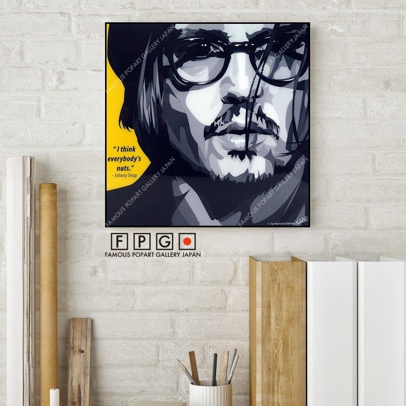 ポップアートパネル,ポップアートフレーム,Keetatat Sitthiket,キータタット シティケット,Johnny Depp,ジョニー・デップ