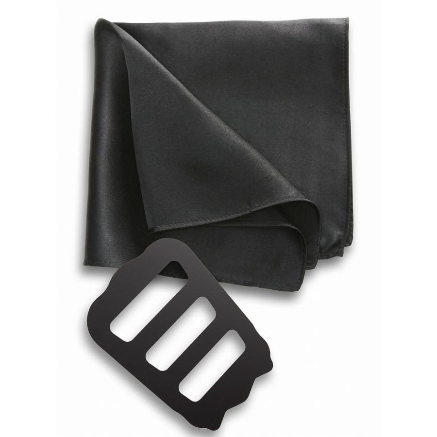 ポケットチーフ 結婚式 シルク100% スーツ ホルダー&折り方ガイド付き|freate|26