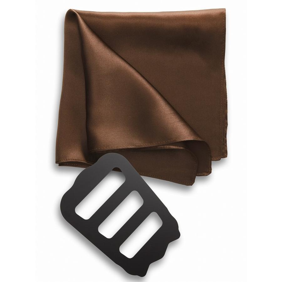 ポケットチーフ 結婚式 シルク100% スーツ ホルダー&折り方ガイド付き|freate|18