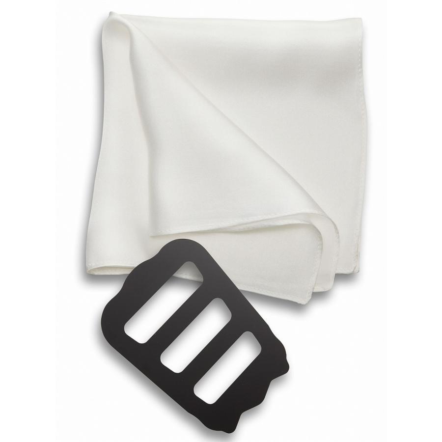 ポケットチーフ 結婚式 シルク100% スーツ ホルダー&折り方ガイド付き|freate|14