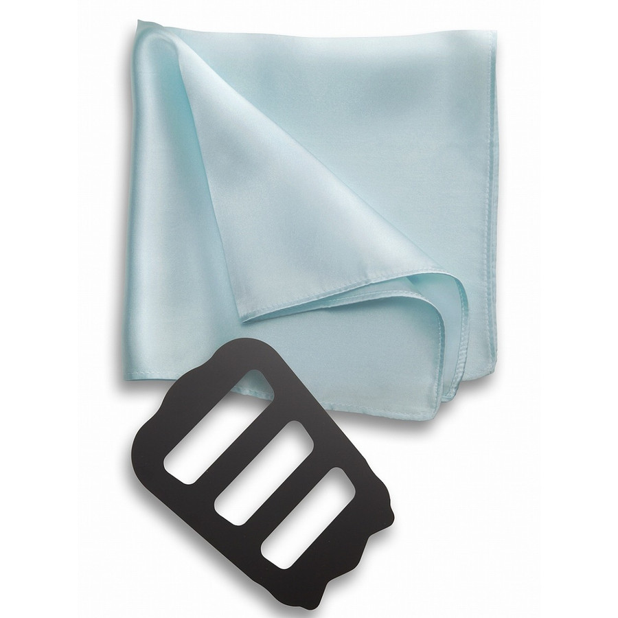 ポケットチーフ 結婚式 シルク100% スーツ ホルダー&折り方ガイド付き|freate|12