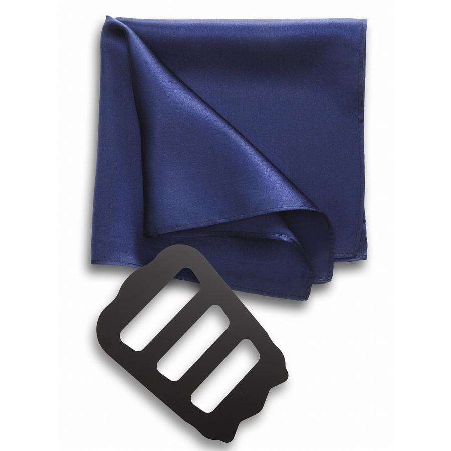 ポケットチーフ 結婚式 シルク100% スーツ ホルダー&折り方ガイド付き|freate|22