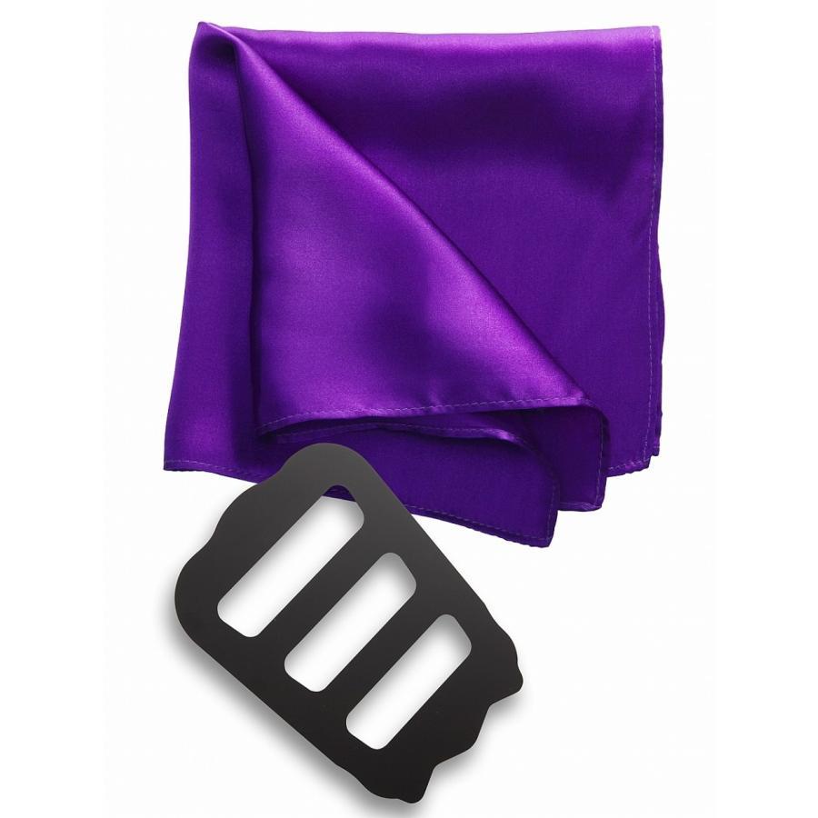ポケットチーフ 結婚式 シルク100% スーツ ホルダー&折り方ガイド付き|freate|17