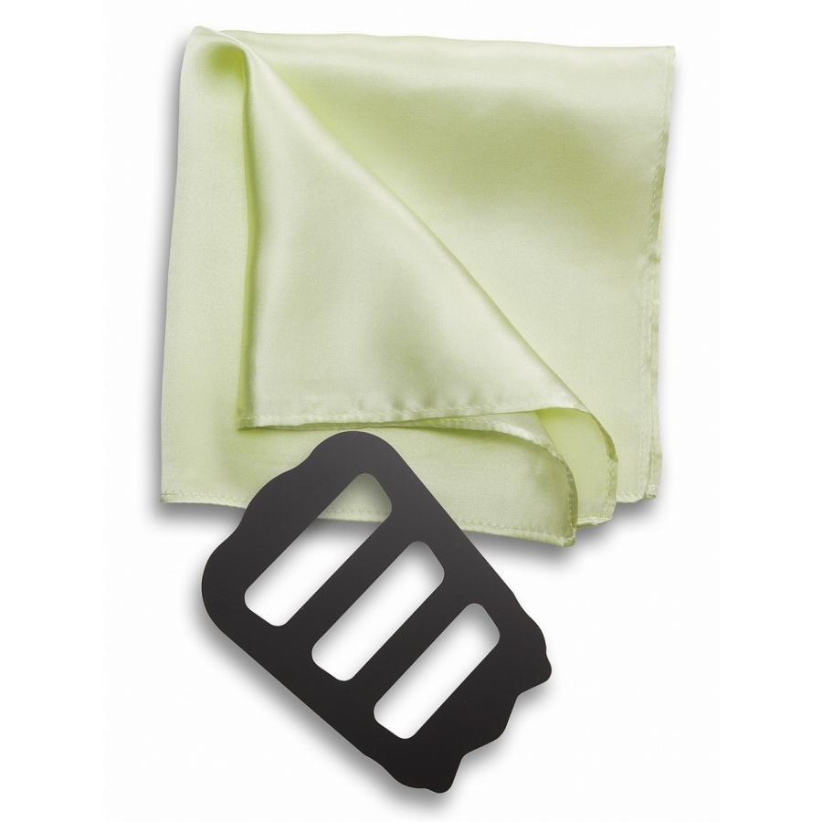 ポケットチーフ 結婚式 シルク100% スーツ ホルダー&折り方ガイド付き|freate|13