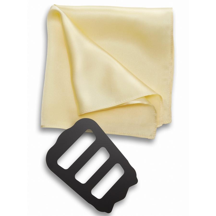 ポケットチーフ 結婚式 シルク100% スーツ ホルダー&折り方ガイド付き|freate|10