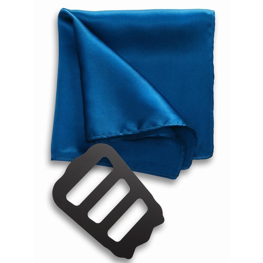 ポケットチーフ 結婚式 シルク100% スーツ ホルダー&折り方ガイド付き|freate|20