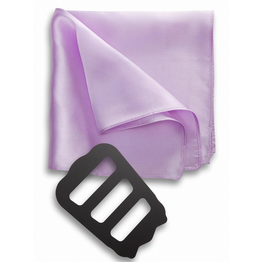 ポケットチーフ 結婚式 シルク100% スーツ ホルダー&折り方ガイド付き|freate|16
