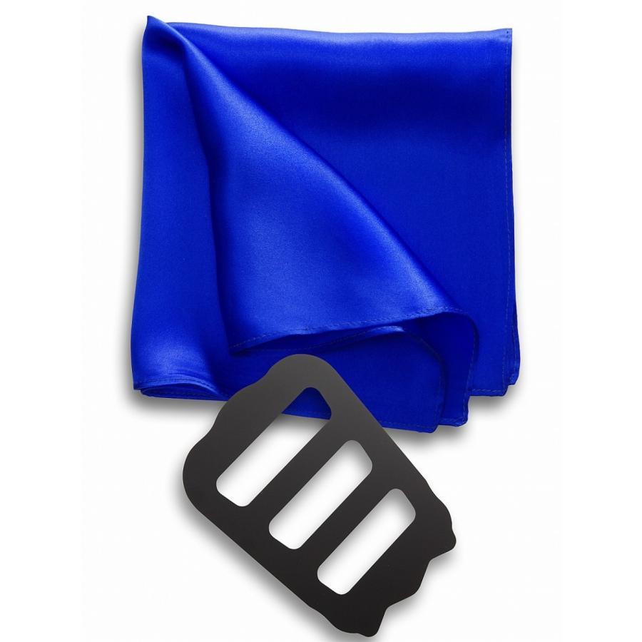 ポケットチーフ 結婚式 シルク100% スーツ ホルダー&折り方ガイド付き|freate|21