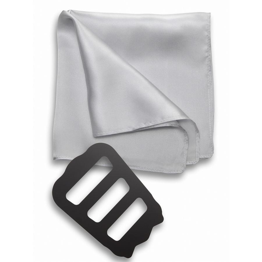 ポケットチーフ 結婚式 シルク100% スーツ ホルダー&折り方ガイド付き|freate|19